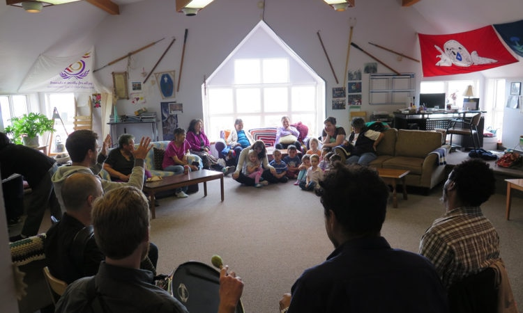 Matuto play for elders and infants at Elders Qammaq.