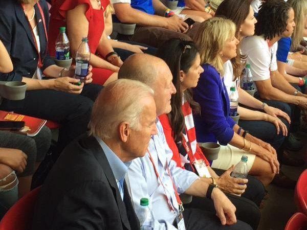 Ambassador Heyman attending the FIFA Women's World Cup Final in Vancouver with Vice-President Joe Biden, Dr. Jill Biden and other members of the official US delegation.