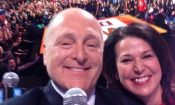 "Ambassador and Mrs. Heyman take a ""selfie"" at National We Day in Ottawa."