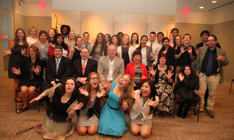 Canadian Youth Ambassadors visit the Embassy before traveling to the United States.