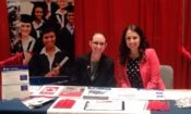 Representatives at Consulate Toronto's table at the Study and Go Abroad Expo. (Credit US Consulate Toronto)