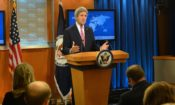 U.S. Secretary of State John Kerry releases the 2015 Country Reports on Human Rights Practices, at the U.S. Department of State in Washington, D.C., on April 13, 2016. [State Department photo/ Public Domain]