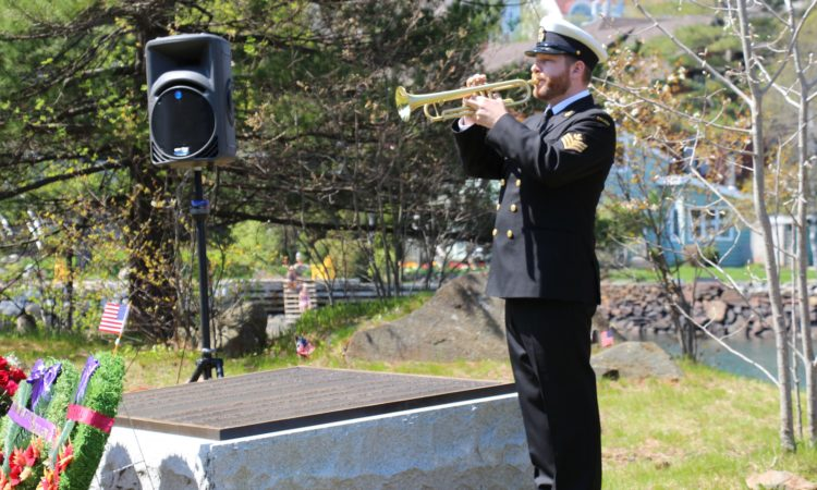 A bugler at Halifax's Deadman's Island. (Credit US Consulate Halifax)