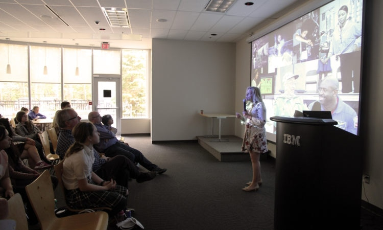 Dr. Ellen Stofan addresses a crowd in Ottawa. (Credit US Embassy Ottawa)