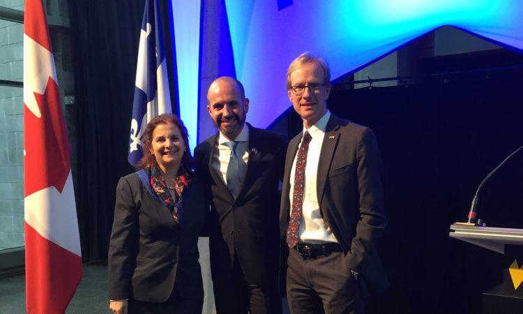 Les Consuls généraux de Québec et de Montréal assistent à la réception de la fête nationale d'Israël