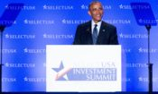 President Barack Obama smiles as he speaks at the SelectUSA Investment Summit, Monday, June 20, 2016, at the Washington Hilton in Washington. (AP Photo/Andrew Harnik)