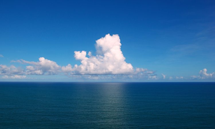 Clouds over the Atlantic Ocean (Credit Wikimedia Commons)