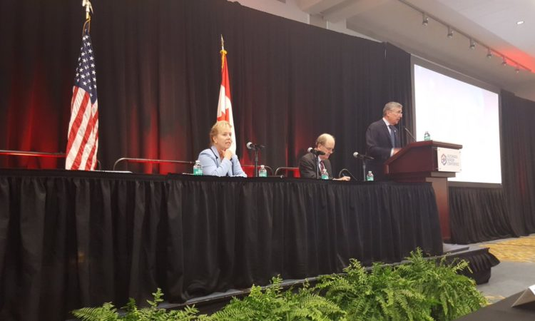 CBP Commissioner Kerlikowske at the US-Canada Border Conference. (Credit CBP)