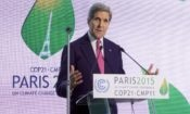 Secretary Kerry at COP-21 in Paris. Credit State Department