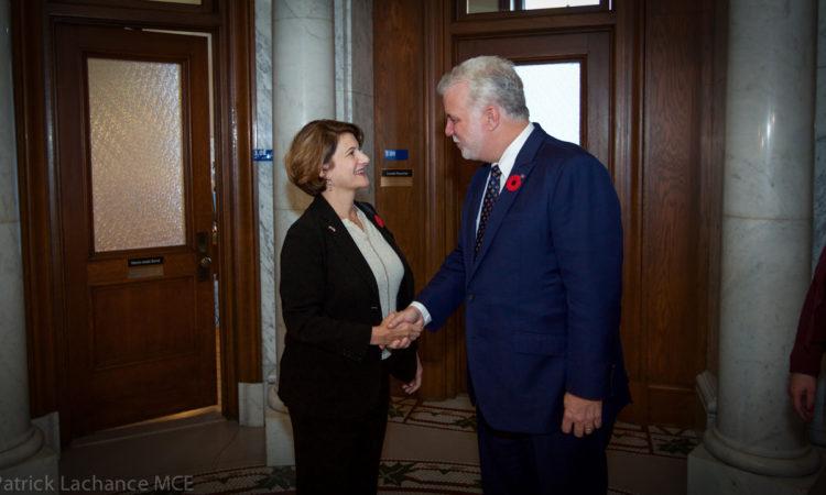 La Consule générale Allison Areias Vogel rencontre le premier ministre Philippe Couillard