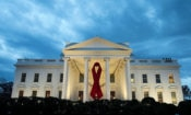 AIDS Ribbon on the White House