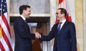 Treasury Secretary Steven Mnuchin meets with Canadian Minister of Finance Bill Morneau. Photo Credit: U.S. Department of the Treasury Photographer