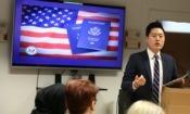Toronto Consular officer Thomas Wei speaks at Peel Alternative School North. Credit US Embassy Toronto.