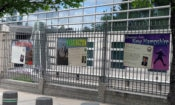 Images from U.S. Embassy Ottawa's fence exhibit highlighting congratulatory messages. Credit US Embassy Ottawa.