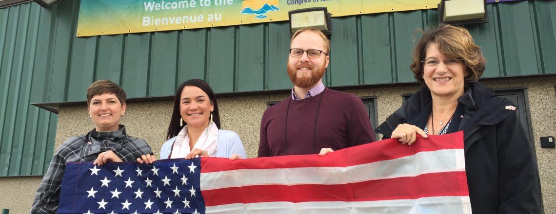 La consule générale des États-Unis à Québec Areias Vogel dirige une délégation de l'Alaska